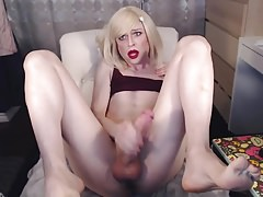 Monster Cock Blonde Tranny HD