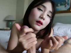 Thai lady-man stands in a doggy style for anal drilling