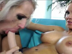 TS Juliette Stray ass fucked by strapon wearing Rain De Grey