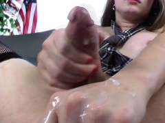 Tgirl Tiffany Starr blows her load