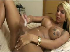 Gorgeous Shemale Jacking Off