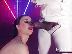 Harmony Vision Jasmine Jae fucked by two monster cocks