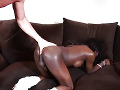 black tranny takes white cock