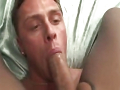 Attractive TS in pantyhose fucks with Gay guy