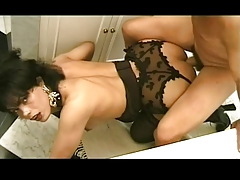 Hot Sexy tranny get fuck and anal sex in the bathroom