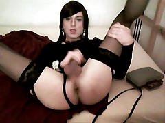 Cross dresser on webcam