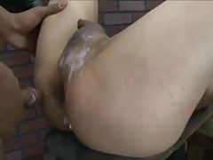 Sexy Asian TS with a BBC