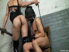 Shemale Dominates Her Slave