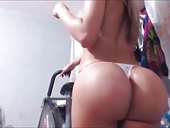 Carolina Ramirez strip tease & jack off