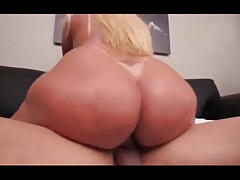Bbw busty  big ass tits shemale rides a BBC