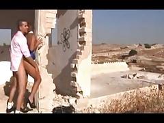 Israeli guy fucks shemale