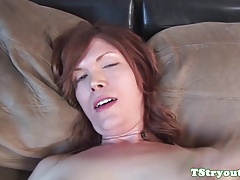 Solo casting tranny masturbating at audition